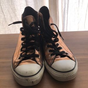 Rose Gold Converse All Star High Top